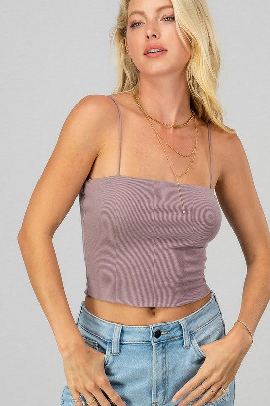 Jaci Crop Top Lavender
