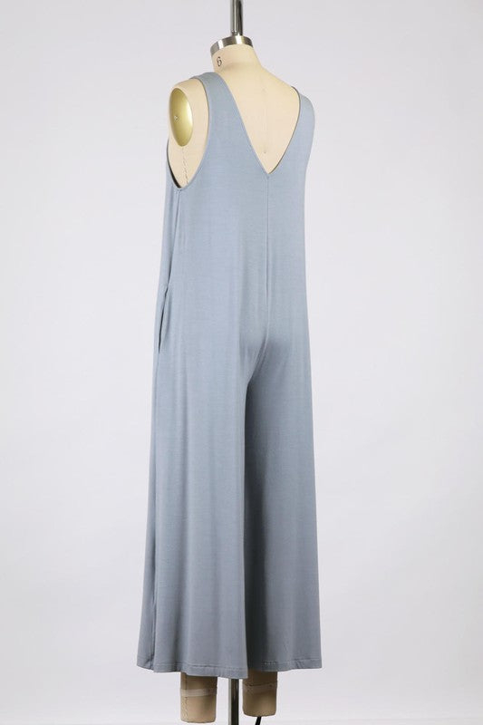 Zia Lounge Jumpsuit Dusty Blue