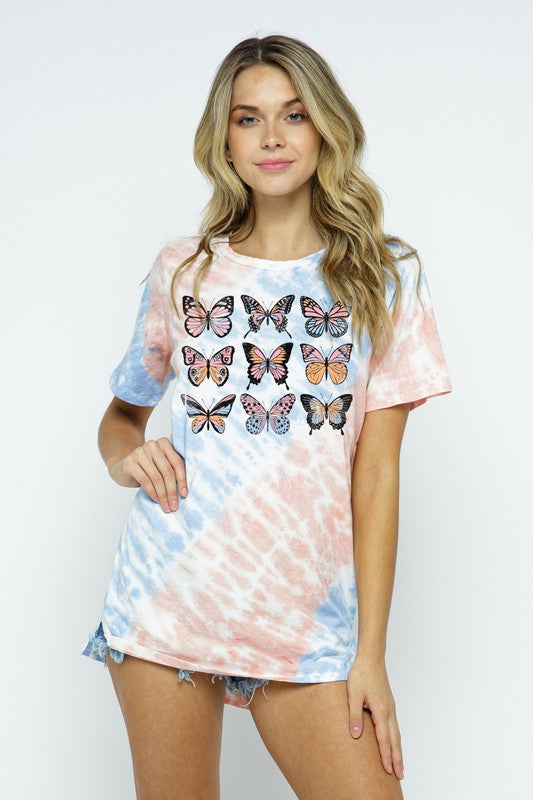 Butterfly Tie Dye Graphic Tee