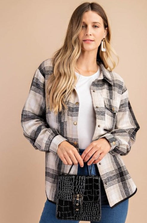 Drake Plaid Top