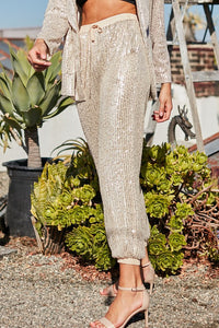 Champagne Sequin Pants