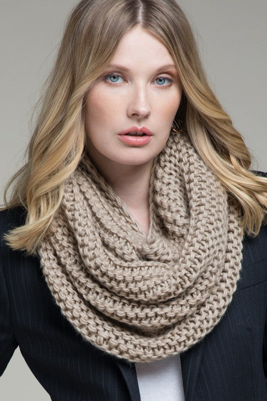 Emily Infinity Scarf Taupe