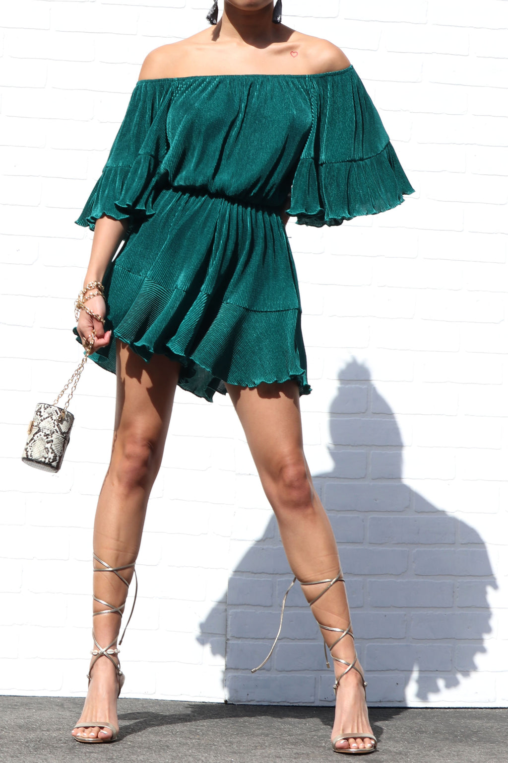 Hotel California Romper Green