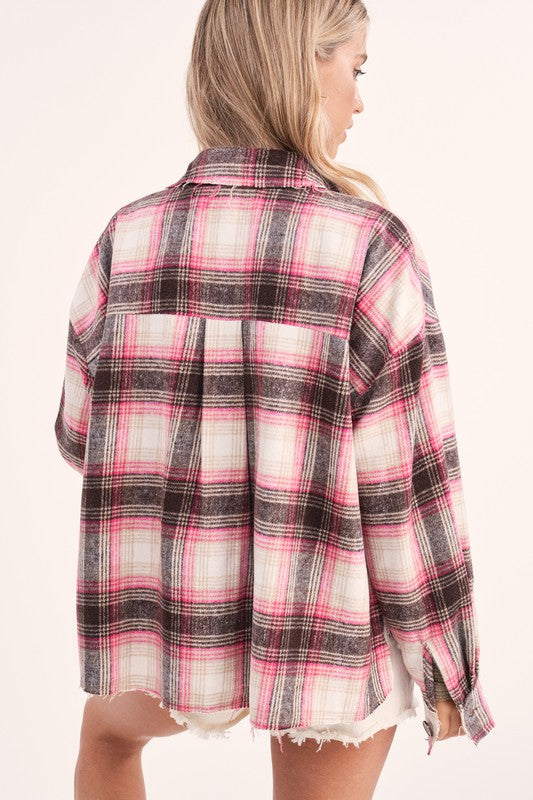 Griffin Plaid Jacket Pink