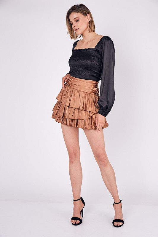 Caramel Machiatto Mini Skirt