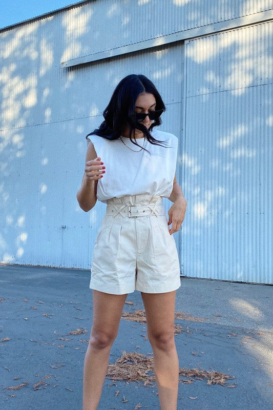 Melrose Pleated Shorts