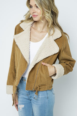 Sherpa Lined Corduroy Jacket