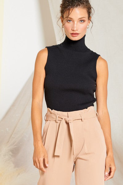 Eleanor Turtleneck Top Black