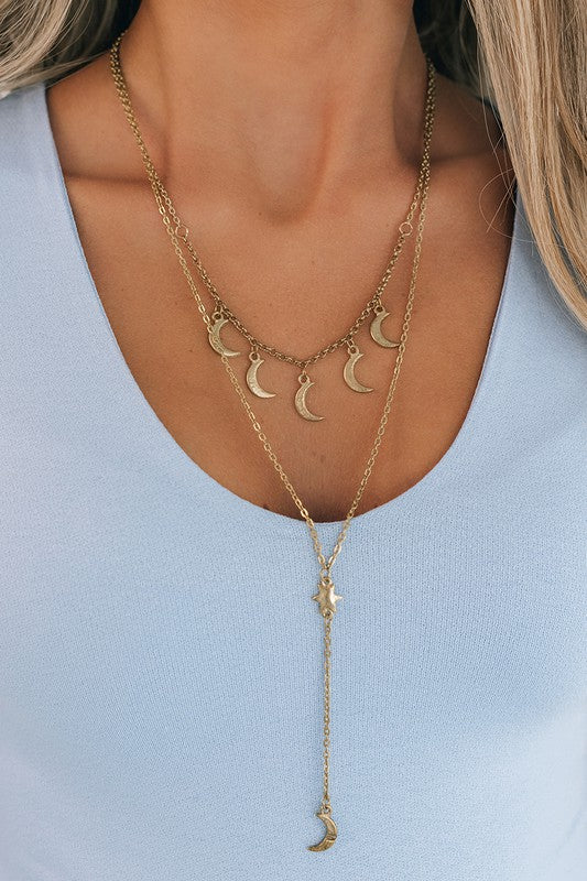 Venice Boulevard Moon Necklace