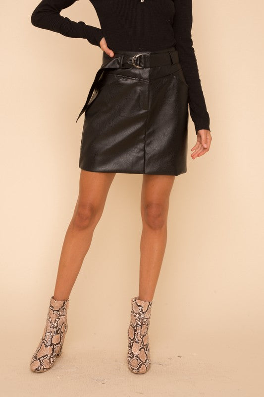 Patricia Faux Leather Skirt
