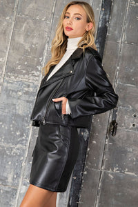 Malia Faux Leather Jacket