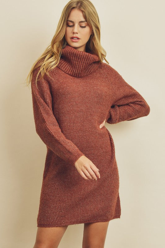 Bella Turtleneck Sweater Dress