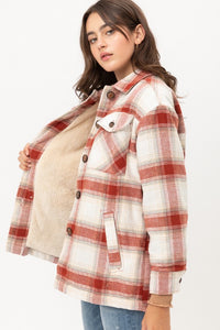 Naomi Plaid Jacket Terracotta