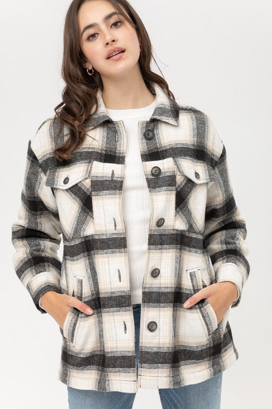 Naomi Plaid Jacket Black