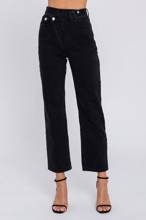 Asymmetric Dad Jeans