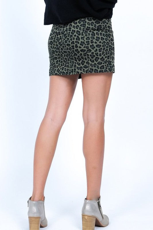 Angie Leopard Skirt