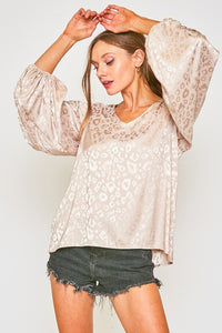 Silk Leopard Top