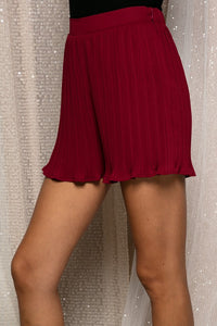 Holiday Pleated Shorts