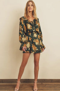 Golden Hour Ruffled Mini Dress