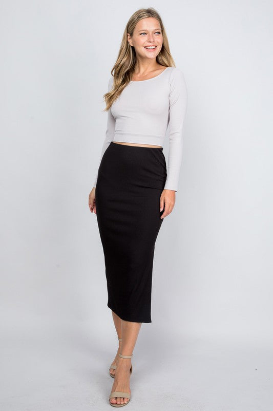 Skyline Midi Skirt Black