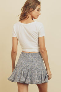 Ditsy Floral Mini Skirt