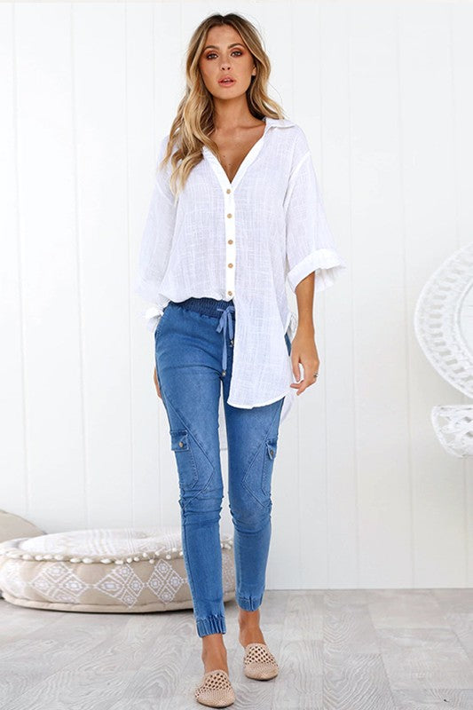 Driftwood Button Up Top