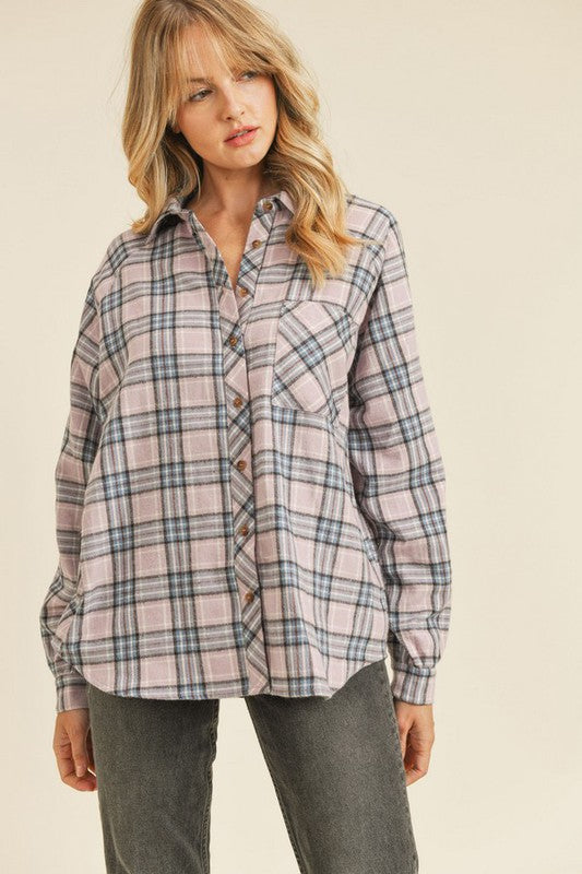 Evonne Plaid Button Down