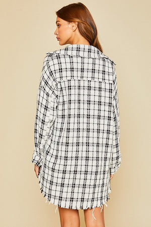 Laurie Oversized Plaid Top