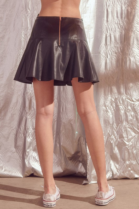 Jade Faux Leather Skirt
