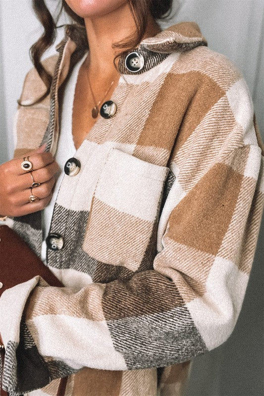 Jackson Plaid Jacket Brown