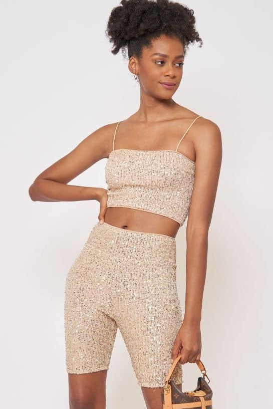 Golden Sequin Top