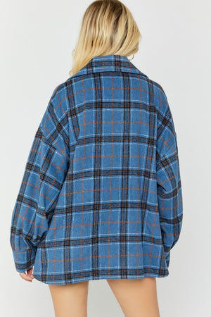 Napa Plaid Jacket Navy