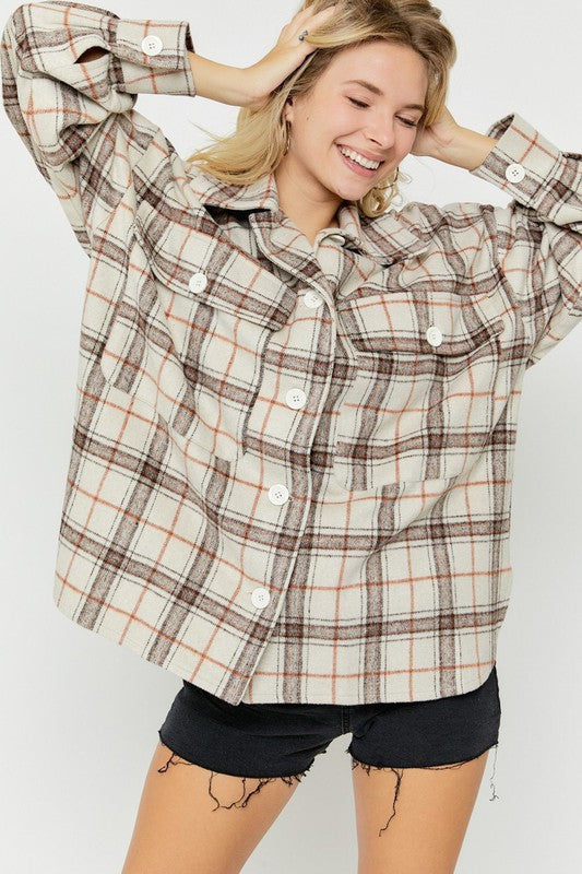 Napa Plaid Jacket Taupe
