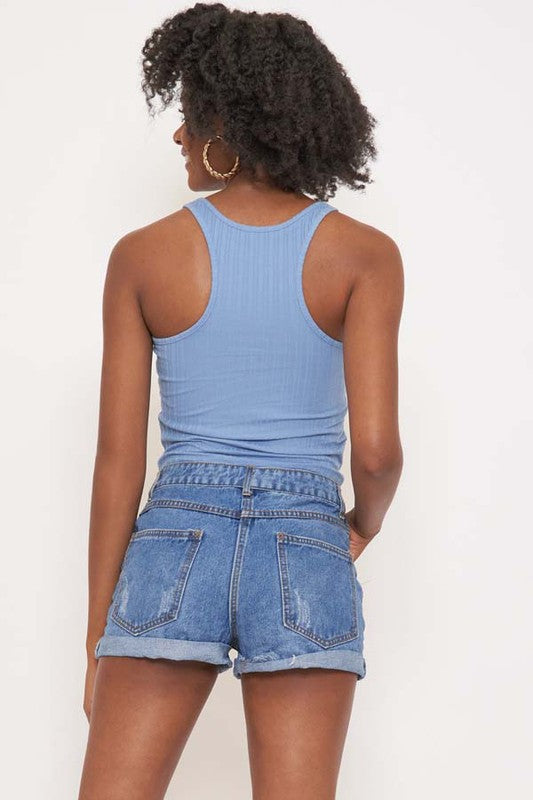 Pasadena Crop Top Blue