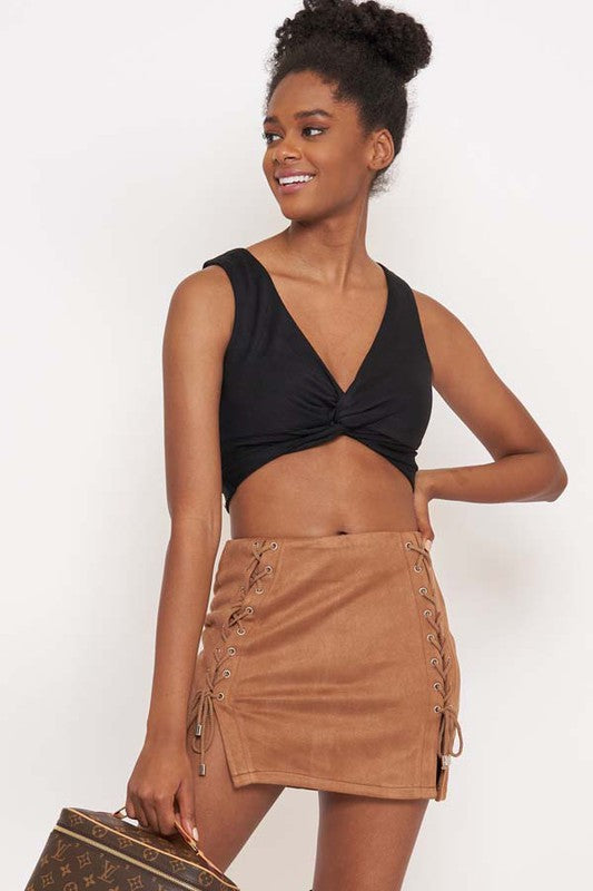Shay Faux Suede Skirt