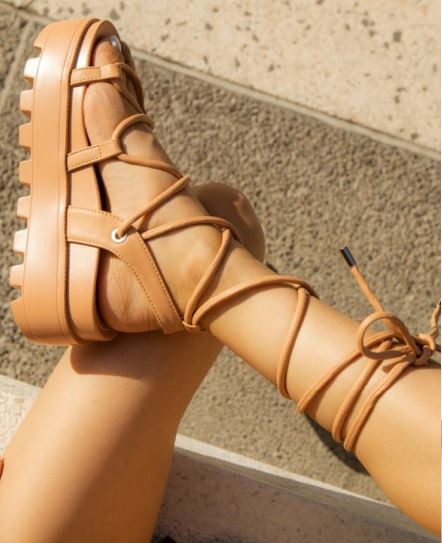 Lace Me Up Platform Sandal