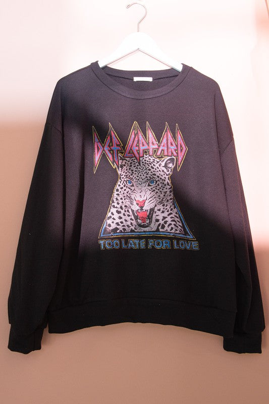 Def Leppard Too Late for Love Pullover