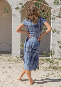 Beach Waves T-Shirt Dress
