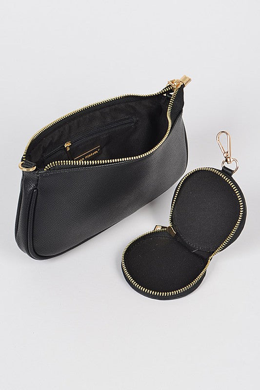 Soraya Crossbody Bag Black/Gold