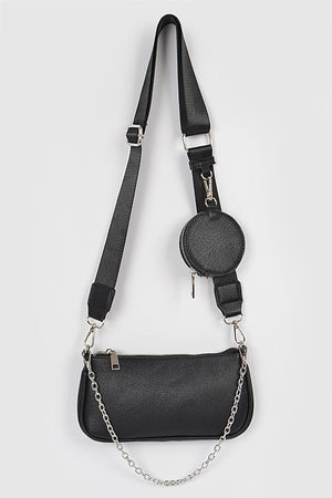 Soraya Crossbody Bag Black/Silver