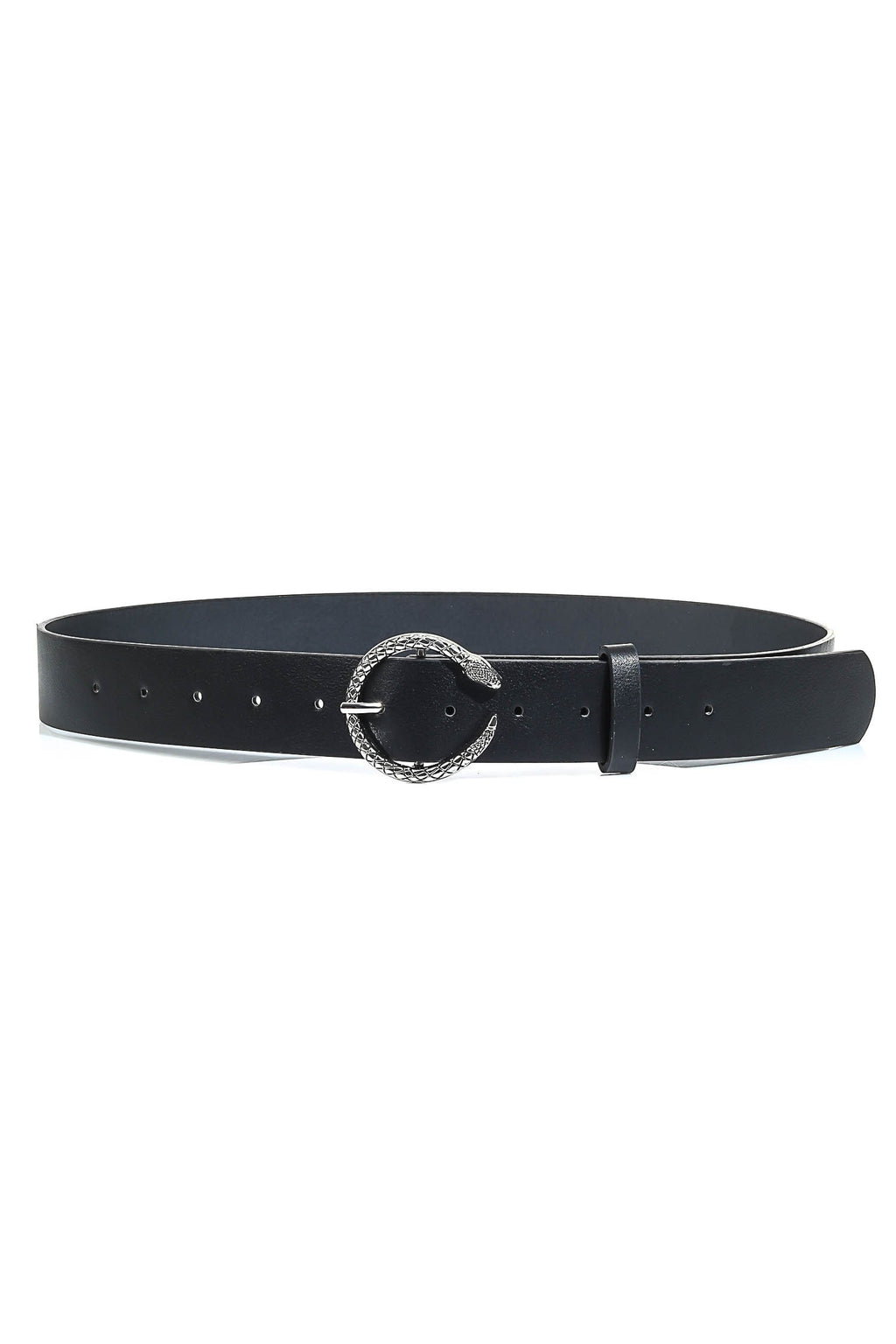 Snake Buckle Belt Black