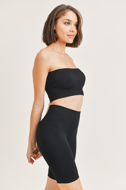 Dominica Tube Top Black