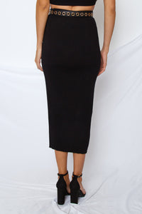 Shalon Ribbed Knit Skirt