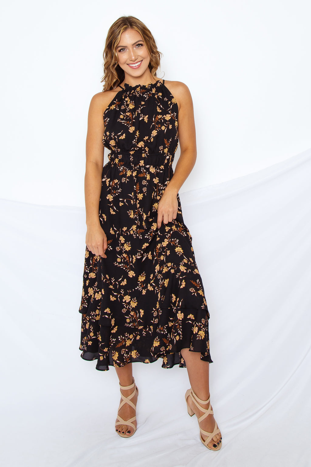 Jolene Floral Midi Dress