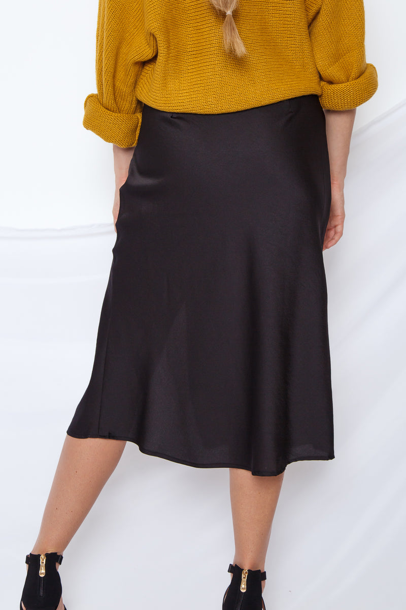 NYC Midi Skirt Black