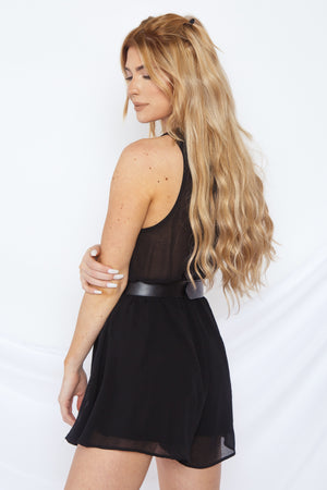Ainsley Romper Black
