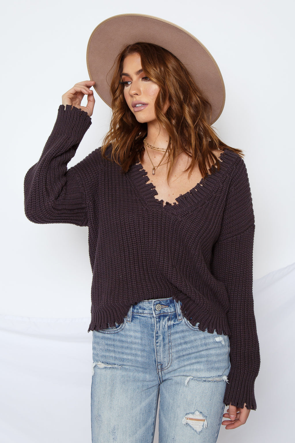 Ciera Distressed Sweater