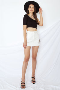 Hope One Shoulder Crop Top
