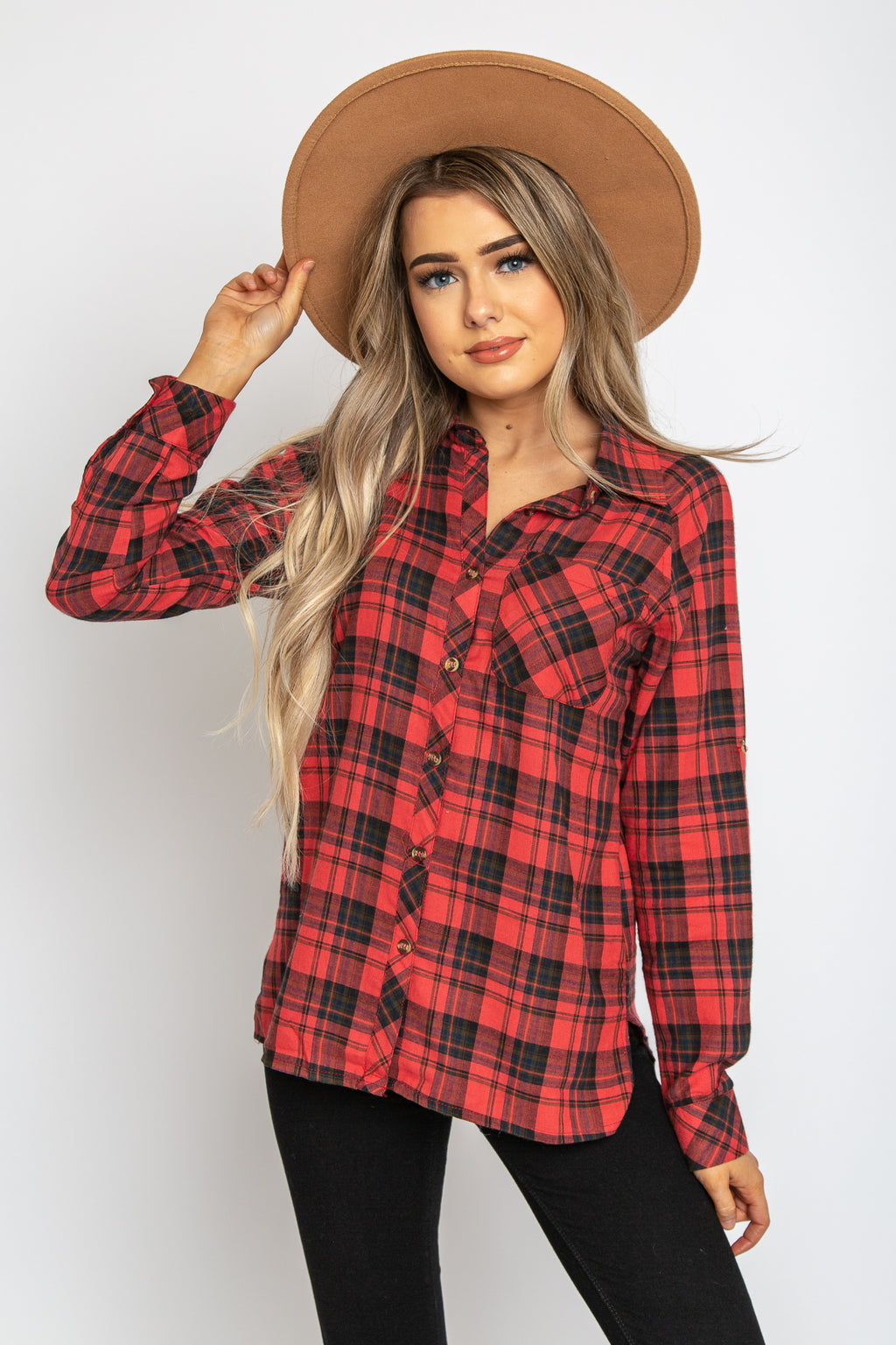 Clara Plaid Top