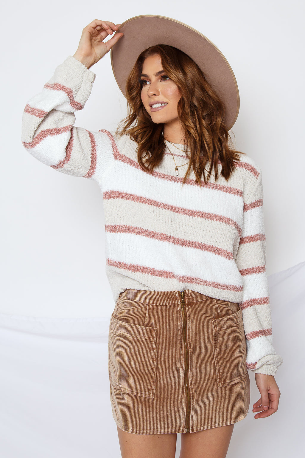 Leni Striped Chenille Sweater